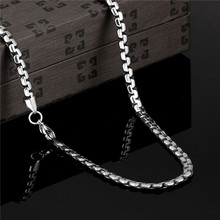 2016 Hot 5MM 316L stainless steel chain necklace length 50CM personality Cool Men's Jewelry Top quality Factory Outlet N066