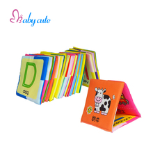 Baby Toys Educational Soft Card Letter Picture Cognize Toys Kids Eductional Cloth Brinquedo Learning Word Colorful Picture Gift