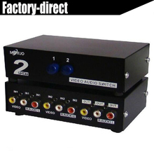 high quality video&audio Swithcer 2/4/8 ports Composite RCA AV audio video selector switch for STB,DVD,HDTV(China)