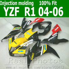 Injection molding fairings set for YAMAHA R1 fairing kit  2004 2005 2006 yellow black bodywork YZF R1 04 05 06 AS15