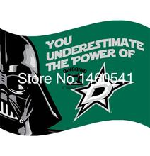 Dallas Stars Wars Flag 3ft x 5ft Polyester NHL Banner Flying Size No.4 144* 96cm QingQing Flag