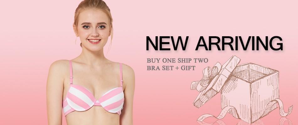 94412a1a40690 detail. Ladychili Women Intimates Pink Chiffon Lace Embroidery Yong Girl. Matching  Bra And Panties Set Push Up ...