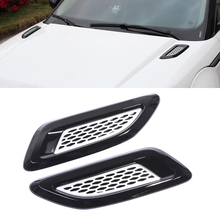 Hawksoar 2Pcs Black and Silver Air Vent Outlet  Hood Trim For Range Rover Evoque 2