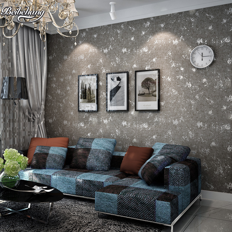 beibehang nostalgia simulation cement gray obscure wallpaper plain mattress living room shoe shop engineering tooling wallpaper<br>