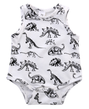 Baby Boy Girl Clothes Short SleeveLess Dinosaurs Print 2016 Summer Baby Romper Newborn Next Jumpsuits & Rompers(China)