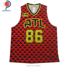 Sublimated Printing Factory Price High Quality basketball shirts For Sale(China)