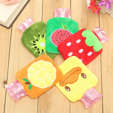 New 1PC Rubber Cartoon Plush HOT Water Bottle Bag Hand Feet Warming Warm Relaxing Heat Cold Outdoor Home Handbags Necessary(China)