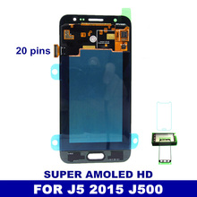 100% Super AMOLED LCD Replacement For Samsung Galaxy J5 2015 J500F J500G J500Y J500M J500H with Digitizer Touch Screen 20 Pins(China)