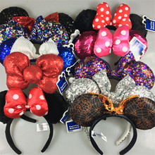 2016 New kids Mickey headband Cute Ear Hair Band Small minnie Mouse Halloween Christmas Party Headwear Hair Accessories