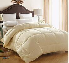 Pink luxury bedding quilts cotton goose down comforter beige winter blanket king size 220*240