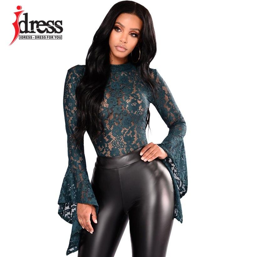 IDress Women Lace Bodysuit Sexy Cut Out Jumpsuit Womens Long Sleeve Romper Leotard Bodysuits High Neck Hollow Out Body Suit (12)