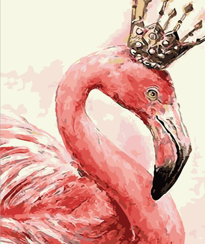 2017 New 22 styles Digital Diy oil painting by numbers Flamingo picture on canvas oil paint coloring by number drawing x38 9