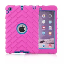 For iPad mini 1/2/3 Retina Kids Safe Outdoors Case Shockproof Heavy Duty Rubber mini1 mini2 mini3 protect Tablet Personal Comput