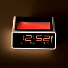 Classic Desk LED Alarm Clock Simple Car Clock Bedroom Bedside Small Alarm Clock Silent Night Students