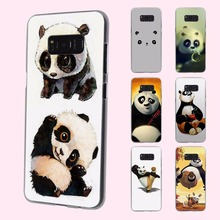 cute baby Kung Fu Panda anime design transparent phone shell Case for Samsung Galaxy S8 Plus S6 S7edge S5 S4 mini Note 7 5(China)
