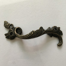 Leaves Striped Carved Handle, Kitchen Handle ,Cabinet Drawer Handle ,Door Knobs Handle Bronze Tone,1PC(China)