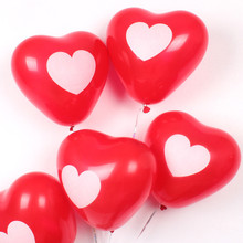 5PCs/Bag Heart Shape Print Heart 12''Wedding Birthday Party Decoration Globos Party Balloon Home Decor Event & Party Supplies