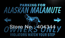 LZ100- Alaskan Malamute Owners Only LED Neon Light Sign home decor shop crafts(China)