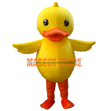 High Quality The Yellow Duck Mascot Costume Adult Character Sales Duck Mascot Costumes Free Shipping
