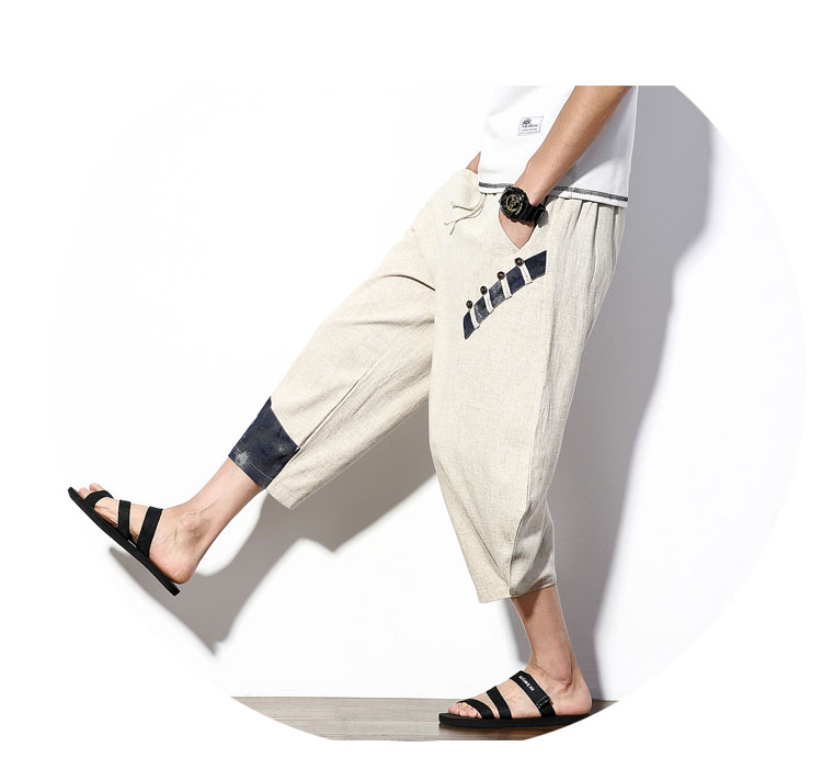 Aolamegs Mens Casual Pants Cotton Linen Loose Large Ankle-length Pants 2017 Summer Chinese Style Male Japan Harajuku Cross-pants (11)
