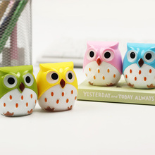 2 PCS Mini Kawaii Funny Learning Stationery Owl Pencil Sharpener Cutter Knife School Student Stationery Supplies