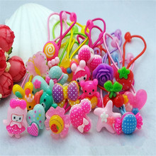 AKWZMLY 2017 New Rushed Hair Bands Cute Headband Bow Love Hair Accessories Flower Headwear Scrunchy Holders Girls Tie Ropes(China)