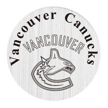 Vancouver Canucks NHL Team 22MM Stainless Steel Charm Plate Hockey Floating Window Plate Fit Glass Locket 5PCS(China)