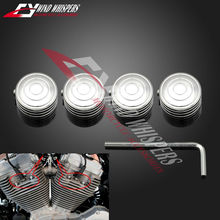 4XPCS motorcycle Modified Circle engine decoration Cover Screw For Harley sportster 883 1200 Dyna Softtiail Glide Raod King ALL