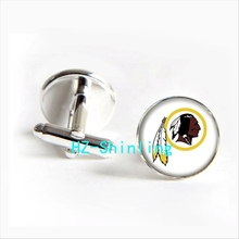 2017 wholesale Washingtom Redskins Team Cufflinks American football Cuff link Jewelry Shirt Cufflinks For Men's