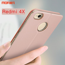 "Redmi 4X case cover flip case rose gold for xiaomi redmi 4x cover MOFi Redmi4X PU leather holder kickstand capa coque funda 5.0""(China)"