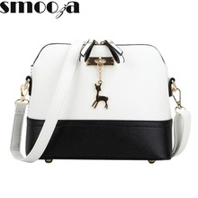 SMOOZA hot Women's Handbags Fashion Shell Bag Leather Women Messenger Bags Girls for Shoulder Bags Decorative Deer Branded Bag