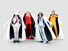 (4pcs/lot) Action figure One piece Navy headquarters senior general cartoon doll PVC 13cm japanese figurine world anime 160806