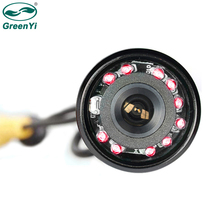 GreenYi Waterproof Car Rear View Reversing Backup Camera 10 IR LED Night Vision CMOS Imaging Sensor Flush Mount Metal Housing(China)