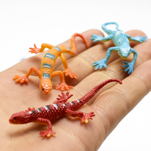 12pcs/lot Lifelike Simulation cabrite Animals Action lizard Figure Toy funny Practical Jokes toys For Kids April fool's day