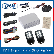 New Engine Start Stop Installation Passive Keyless Entry Smart Remote Control Anti-hijacking Car Alarm System(China)