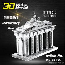 Creative 3D Laser Cute Metal Model Building Kits 3D Scale Model House Building Blocks DIY toys Free Shipping