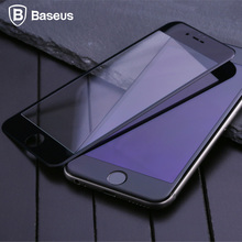 Buy Baseus 0.23mm PET soft edge 3D anti blue light tempered glass screen protector film iPhone 7 8 6 6s plus Full Cover film for $4.79 in AliExpress store