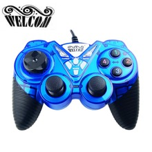 WELCOM WE-8400 USB Wired Controll Vibration Gamepad Game Joystick Gaming Controller Handle Games Joypad For Win For PC