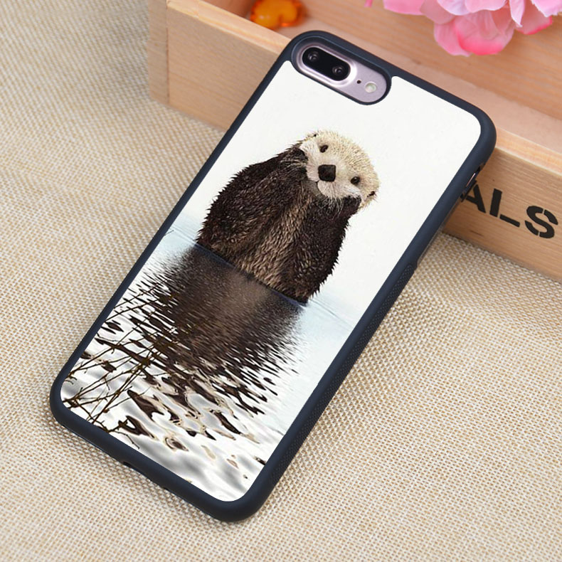Otter Adorable Wild Animal Phone Case Skin Shell For iPhone 6 6S Plus 7 7 Plus 5 5S 5C SE 4S Rubber Soft Cell Housing Cover(China)