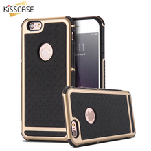 KISSCASE Silicone + Plastic Anti Shock Impact Shield Armor Case For iPhone 6 6S Plus Case 5 5S SE Rugged Heavy Duty Back Cover