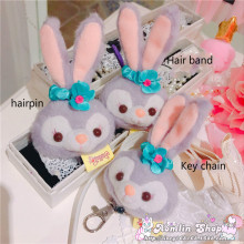 Stellalou Bunny Rabbit Plush Toys A Friend Of Duffy Bear Stuffed Animal Hair Rope ,barrette,key Chain Hair Accessories Gift(China)