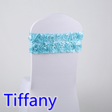 bow tie,tiffany blue colour for luxury weddings,fit all chairs,rosette satin fabric chair sash lycra sash stretch sash