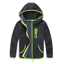 2017 Spring and Autumn Trendy Boys Sport Hooded Jacket New Arrival kids Polar Fleece Soft Shell Clothing Kids Outerwear 3-14T(China)
