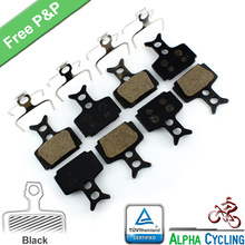 Bicycle Disc Brake Pads For Formula R1R, R1, RO, RX, T1, Mega Disc Brake, 4 Pairs/ORD, Black RESIN