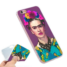 trendy frida kahlo  Clear Soft TPU Slim Silicone Phone Case Cover for iPhone 4 4S 5C 5 SE 5S 7 6 6S Plus 4.7 5.5 inch