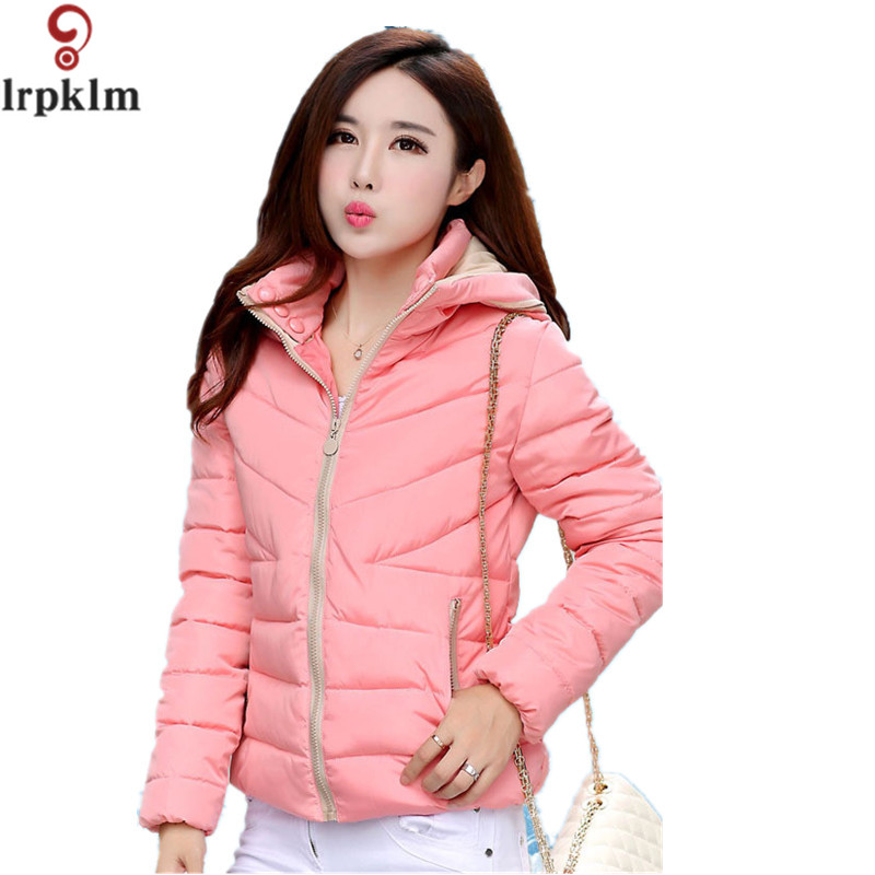 2017 New Korean Winter Jackets For women Fashion Parkas Thick Hooded Outerwear Windproof Overcoat Short  Topcoat  YY5Îäåæäà è àêñåññóàðû<br><br>