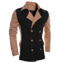 2017 Winter Style Mens Wool Pea Coats Regular Black Male Woolen Coats Trench Style High Quality Plus Size New Overcoat Male C103
