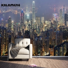 KALAMENG Custom 3D Mural Wallpaper Hong Kong Night View Living Bedroom Hallway Children's Room Photo Wallpaper