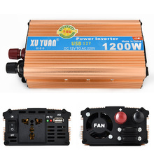 1200W MAX DC 12 V to AC 220 V Car Power Inverter with USB Charging Port Adopting Aluminum Alloy Case, Antioxidant(China)
