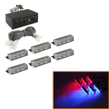 CYAN SOIL BAY 6 X 3 LED Emergency Warning Car Auto Boat Grill Bar Police Strobe Light Blue Red(China)